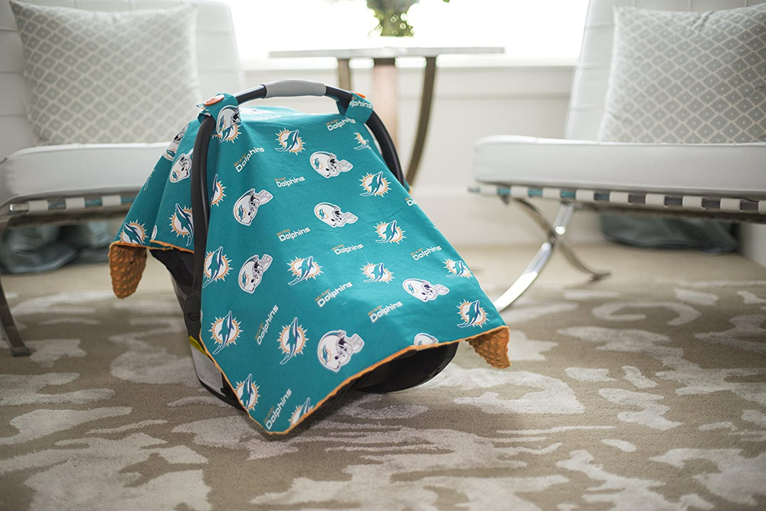 Stupendous Carseat Canopy Nfl Miami Dolphins Baby Infant Car Seat Cover Pabps2019 Chair Design Images Pabps2019Com