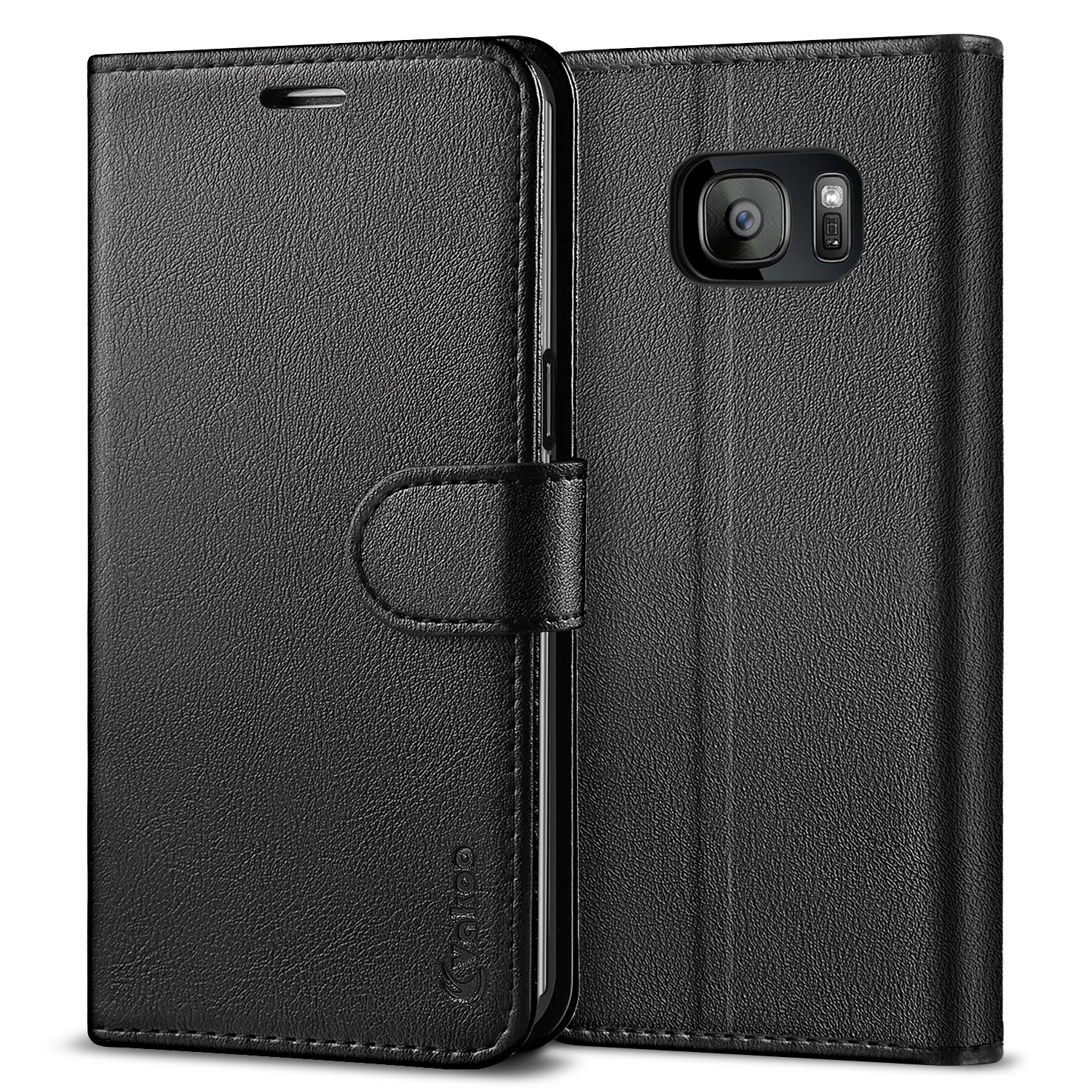 check out fc02a 765ad Vakoo Wallet Phone Case for Samsung Galaxy S7 Edge, Premium Flip Case and  PU Leather Cover for Samsung Galaxy S7 Edge (5.5