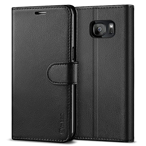 check out af87d bd1a5 Vakoo Wallet Phone Case for Samsung Galaxy S7 Edge, Premium Flip Case and  PU Leather Cover for Samsung Galaxy S7 Edge (5.5