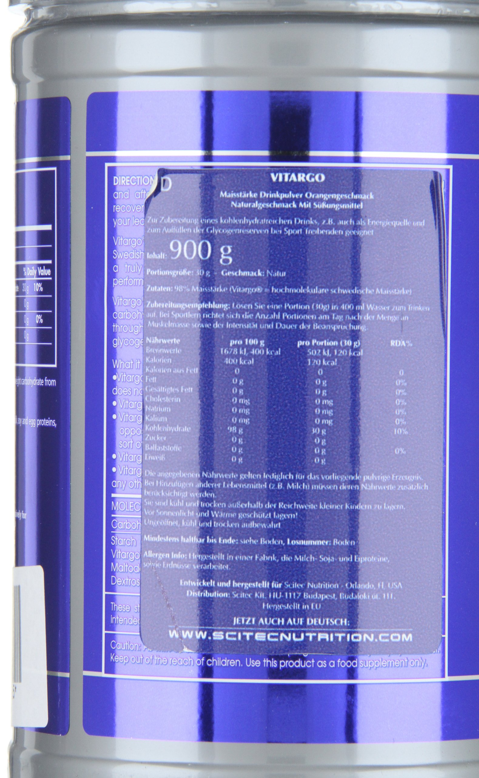Scitec Nutrition Vitargo 900g Unflavoured