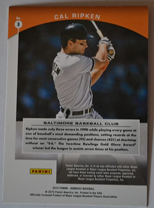 2015 Donruss Cal Ripken Grand Stand Baseball Card 3 At Amazon S