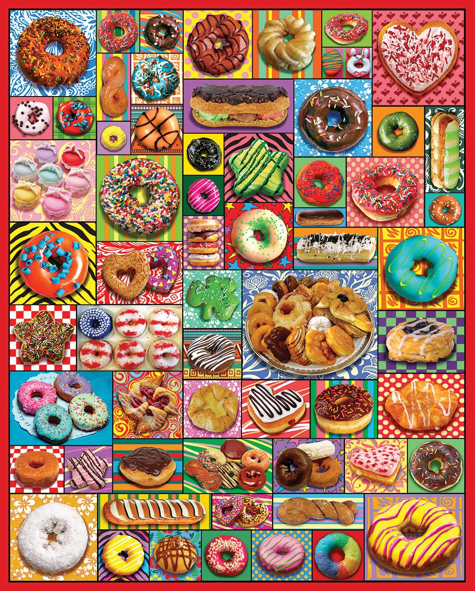 precioso White Mountain Puzzles Donuts and Pastries - - - 1000 Piece Jigsaw Puzzle by White Mountain Puzzles  venta con alto descuento