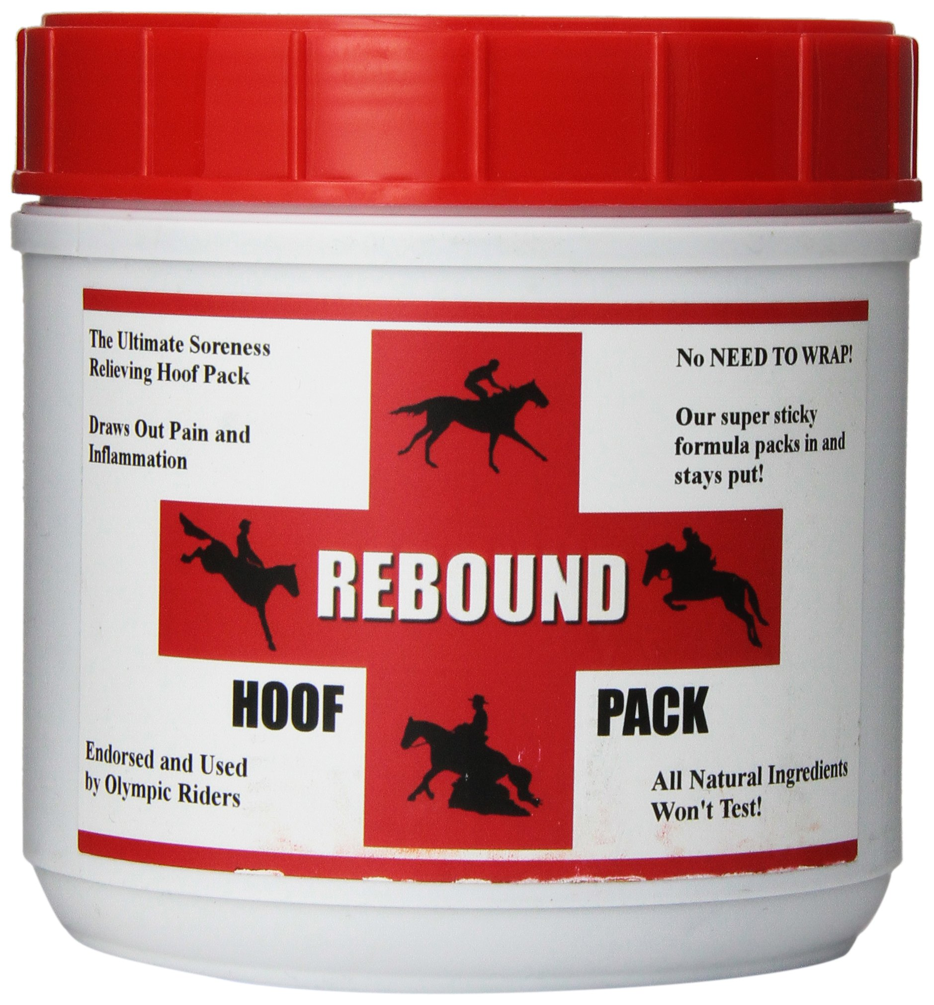 Rebound Hoof Pack To Treat Sore, Inflamed and Infected Horse Hooves, Dark Brown
