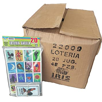 Set of 20 Boards and Cards Loteria Mexicana Family