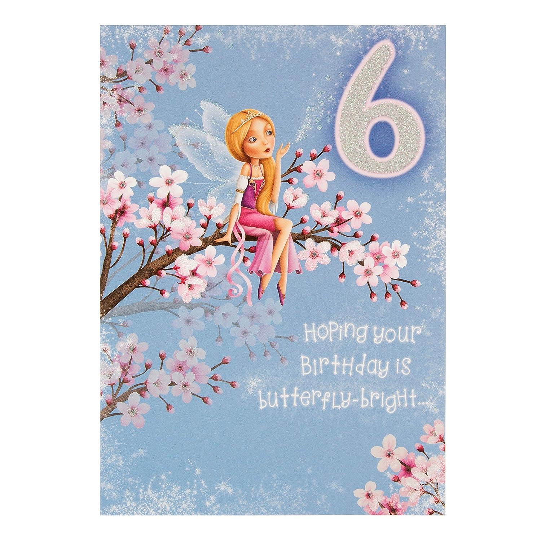 Excellent Hallmark 6Th Birthday Cardfairy Name Medium Amazon Co Uk Personalised Birthday Cards Akebfashionlily Jamesorg