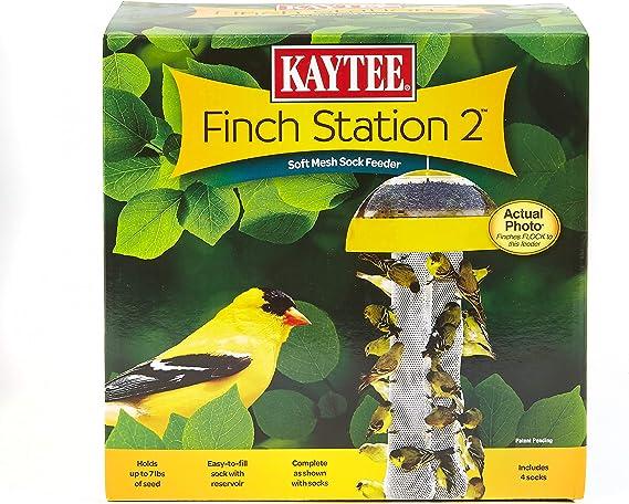 Amazon Com Kaytee Finch Feeder Yellow 4 Socks Pet Bird Feeders Pet Supplies