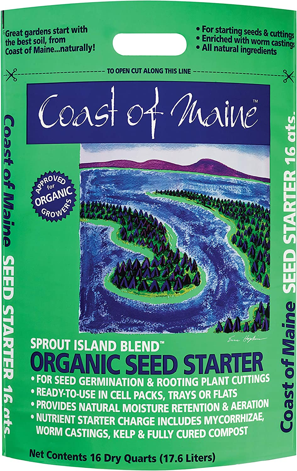 Coast of Maine - Organic Seed Starter - Sprout Island Blend