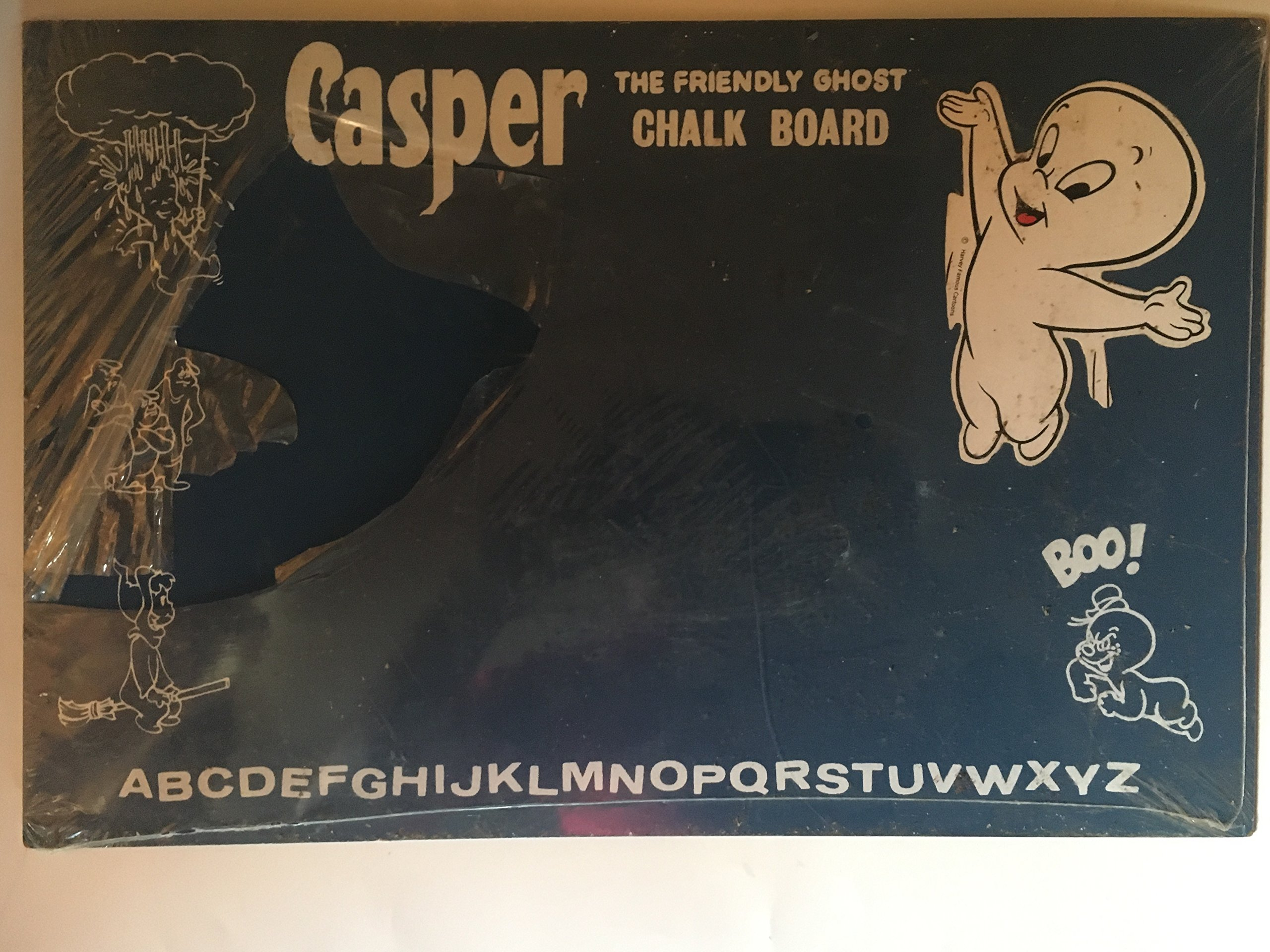"Casper Vintage 18"" x12 The Friendly Ghost Chalk Board Rare Hard To Find"