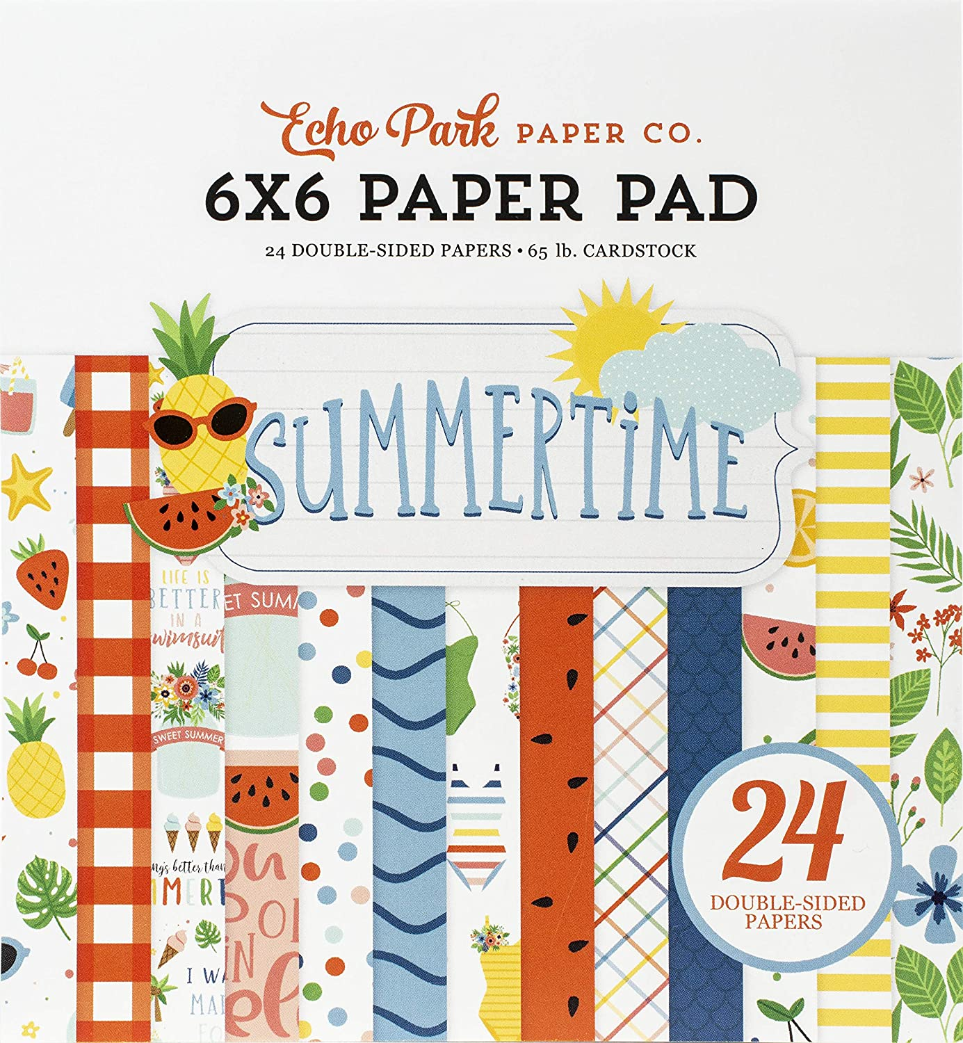 Carta Bella Paper Company Summertime 6x6 Louisville-Jefferson County Mall Pad red paper t navy Sales for sale