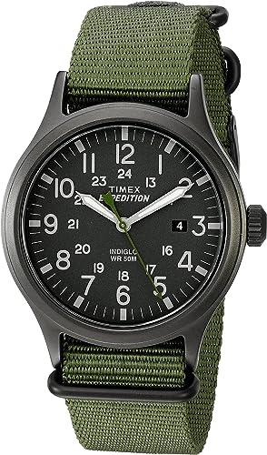 Amazon.com: Timex Men's TW4B04700 Expedition Scout 40 Green Nylon Slip-Thru Strap Watch: Timex: Watches