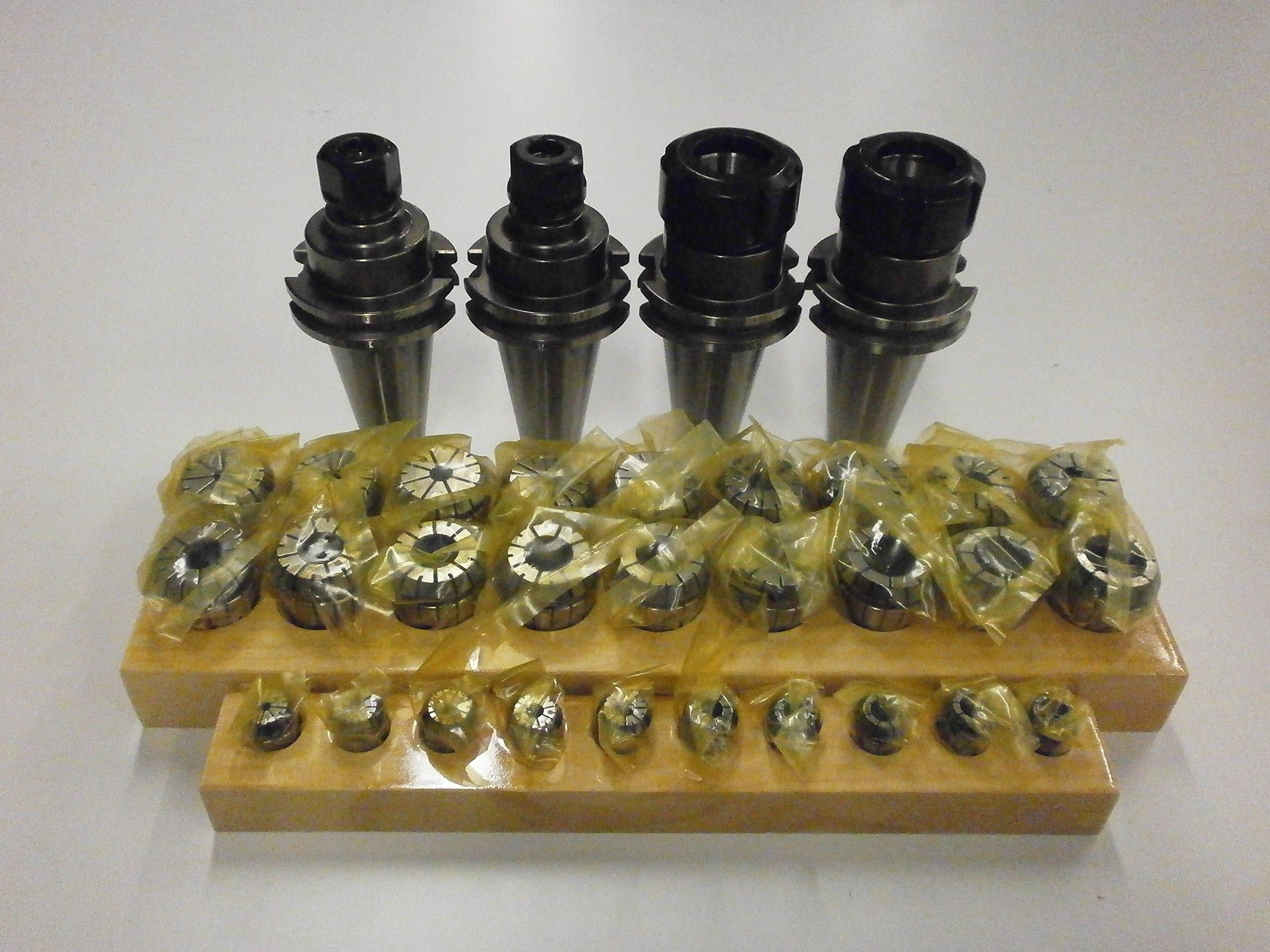 SIMIS Tooling Package by Techniks CAT40 ER32 & ER16 Precision Collet Chuck Package with ER16 & ER32 Collet Sets