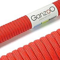 Ganzoo - Cuerda de supervivencia (paracord 550, 31 m, 7 hilos de núcleo, para pulseras, atar cuerda de perro o collar…