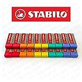 STABILO Legend Kunststoff-Radierer, verschiedene Farben–Box mit 20 Stück