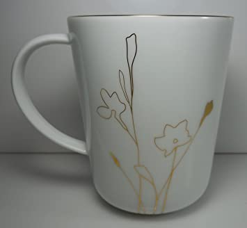 Amazon.com: Charter Club Grand Buffet Silhouette Gold Mug 4 1/2\