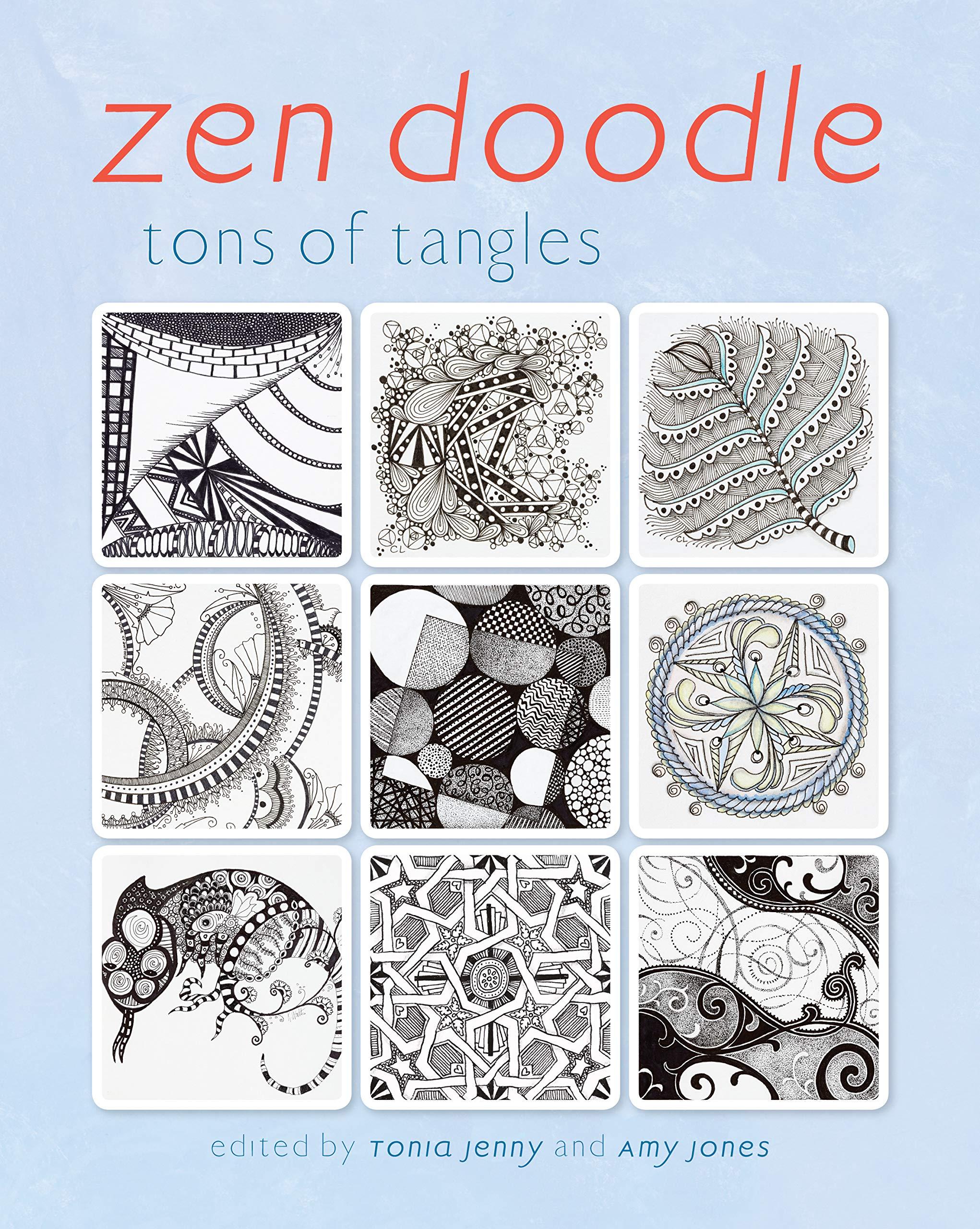 Amazoncom Zen Doodle Tons Of Tangles 9781440332104