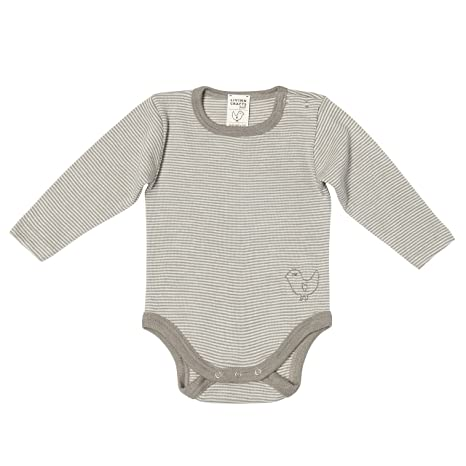 082c8010e Organic Wool & Silk Long-Sleeved Onesie (74/80 (6-12 mos), Taupe Stripes):  Amazon.in: Baby