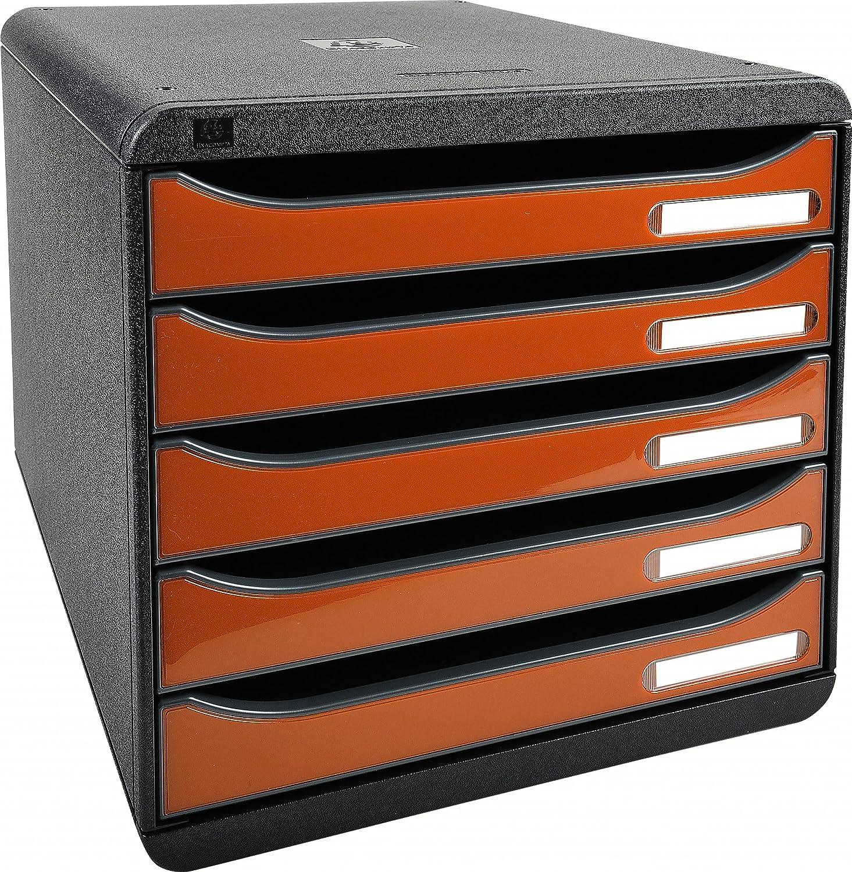 Stapelbare Schubladenbox f/ür mehr Platz auf dem Schreibtisch in Bunt Exacompta Big Box Plus Classic Harlekin mit 5 Schubladen