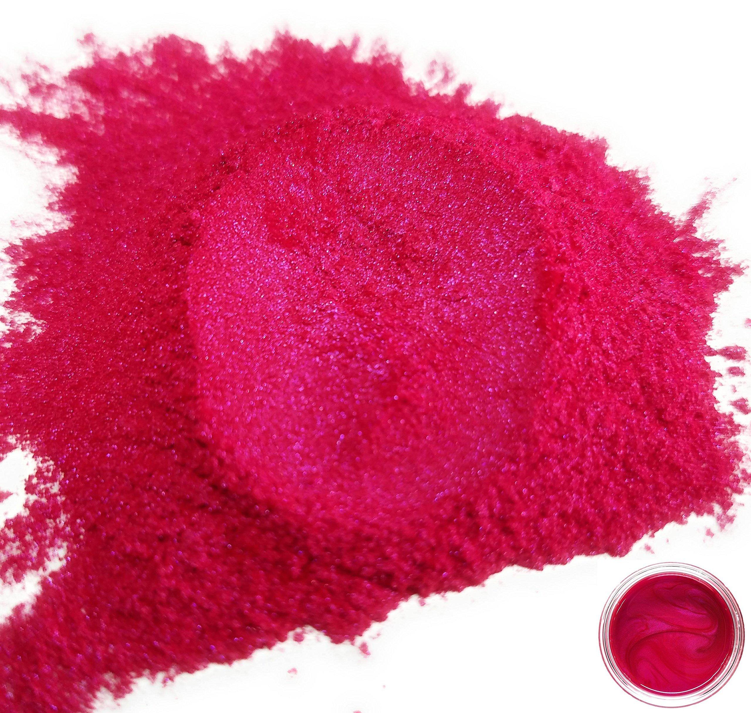 50gr ''Cerise'' Mica Powder Pigments (Resin, Paint, Epoxy, Soaps, Nail Polish, Liquid Wraps)