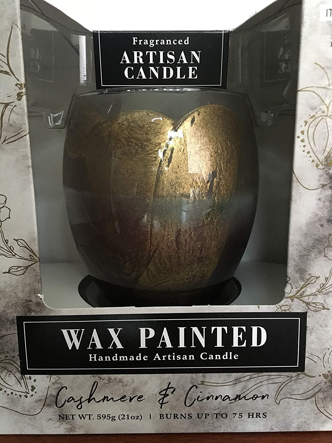 Alaura Wax Painted Artisan Candle Cashmere /& Cinnamon