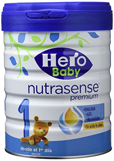 Hero Baby, Leche de iniciación - 2 de 800 gr. (Total 1600 gr