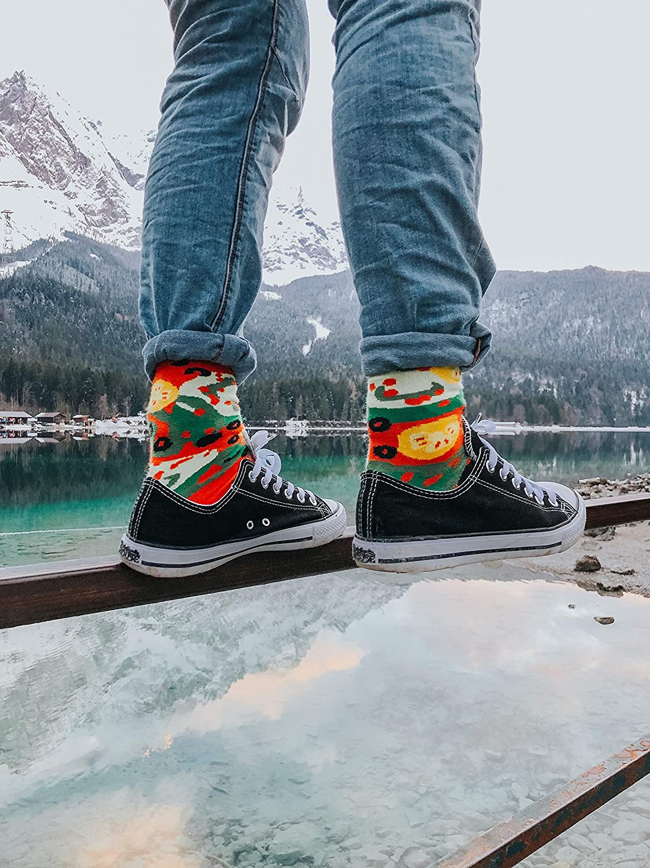 Damen Herren Pizza Socken Box Vegetarische 4 Paar Rainbow Socks