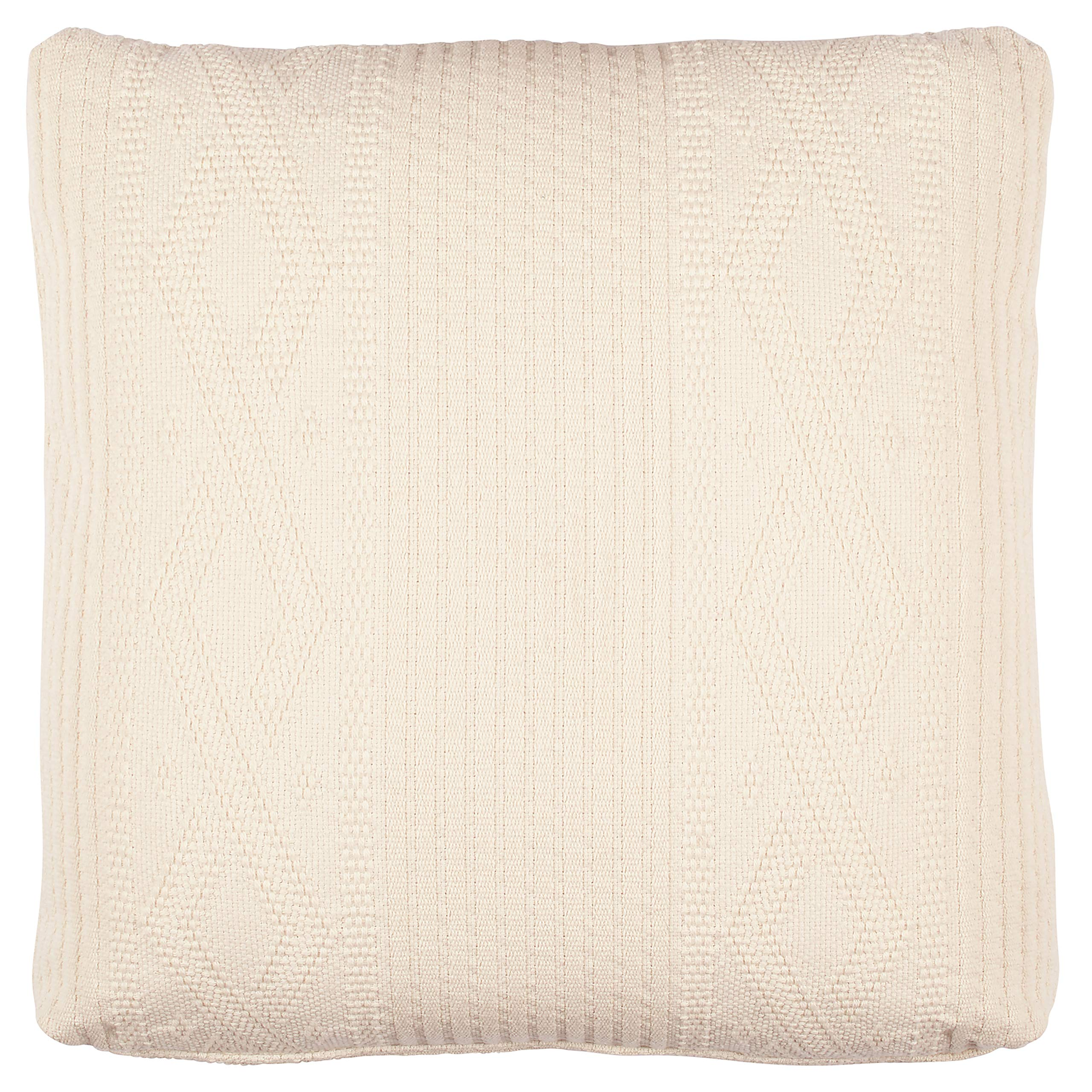Stone & Beam Transitional Plush Knit Pillow, 19'', Ivory by Stone & Beam