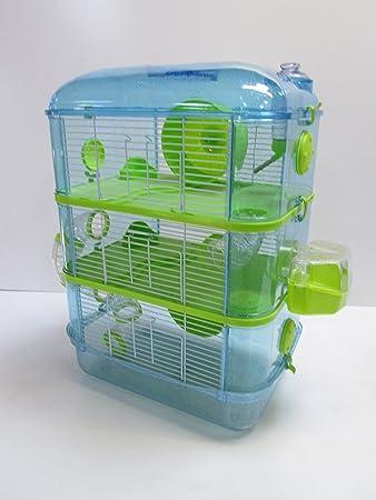 Fantazia Jaula De Hámster Grande - 2 Niveles Azul y Lima: Amazon.es: Productos para mascotas