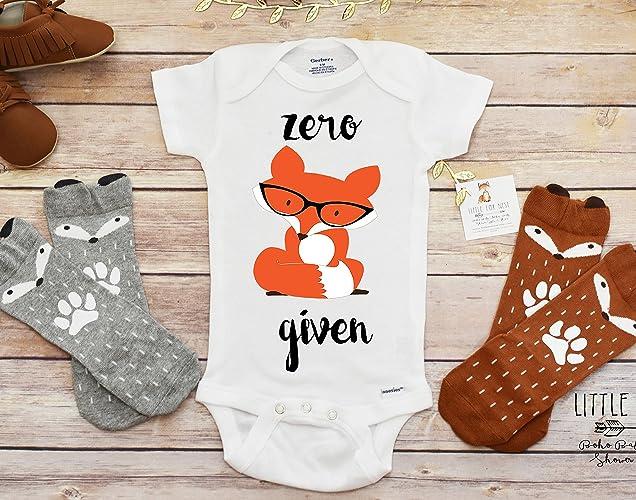 9fd9e25e6 Amazon.com: Fox Onesie, Fox Shirt, Zero Fox Given, Fox Onesie, Fox Shirt,  Fox Birthday: Handmade