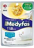 メディファス スープパウチ 11歳から 老齢猫用 しらす・かつお節入り 40gX12