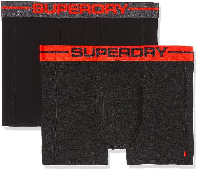 New Mens Superdry Sport Boxers Double Pack Miami Orange