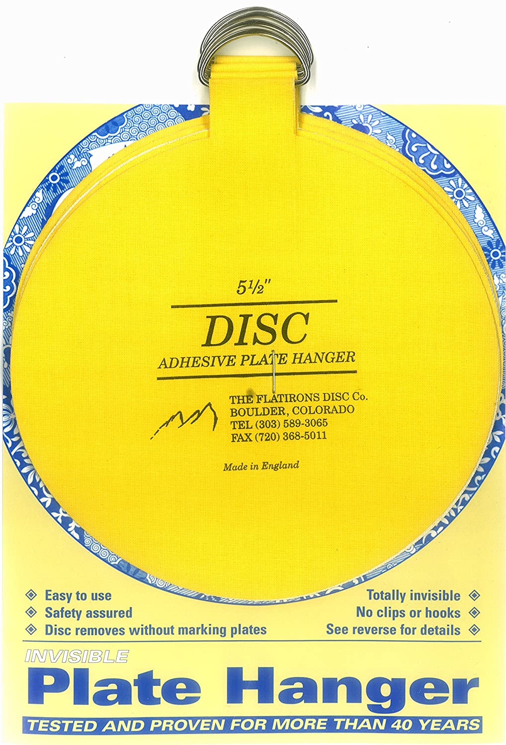Amazon.com: Flatirons Disc Adhesive Extra Large Plate Hanger Set (4 ...