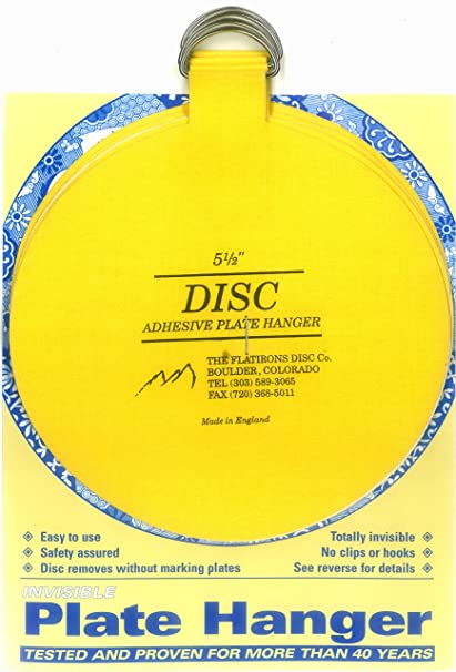 Flatirons Disc Adhesive Extra Large Plate Hanger Set (4-5.5 Inch Hangers)  sc 1 st  Amazon.com & Flatirons Disc Adhesive Extra Large Plate Hanger Set (4-5.5 Inch Hangers)