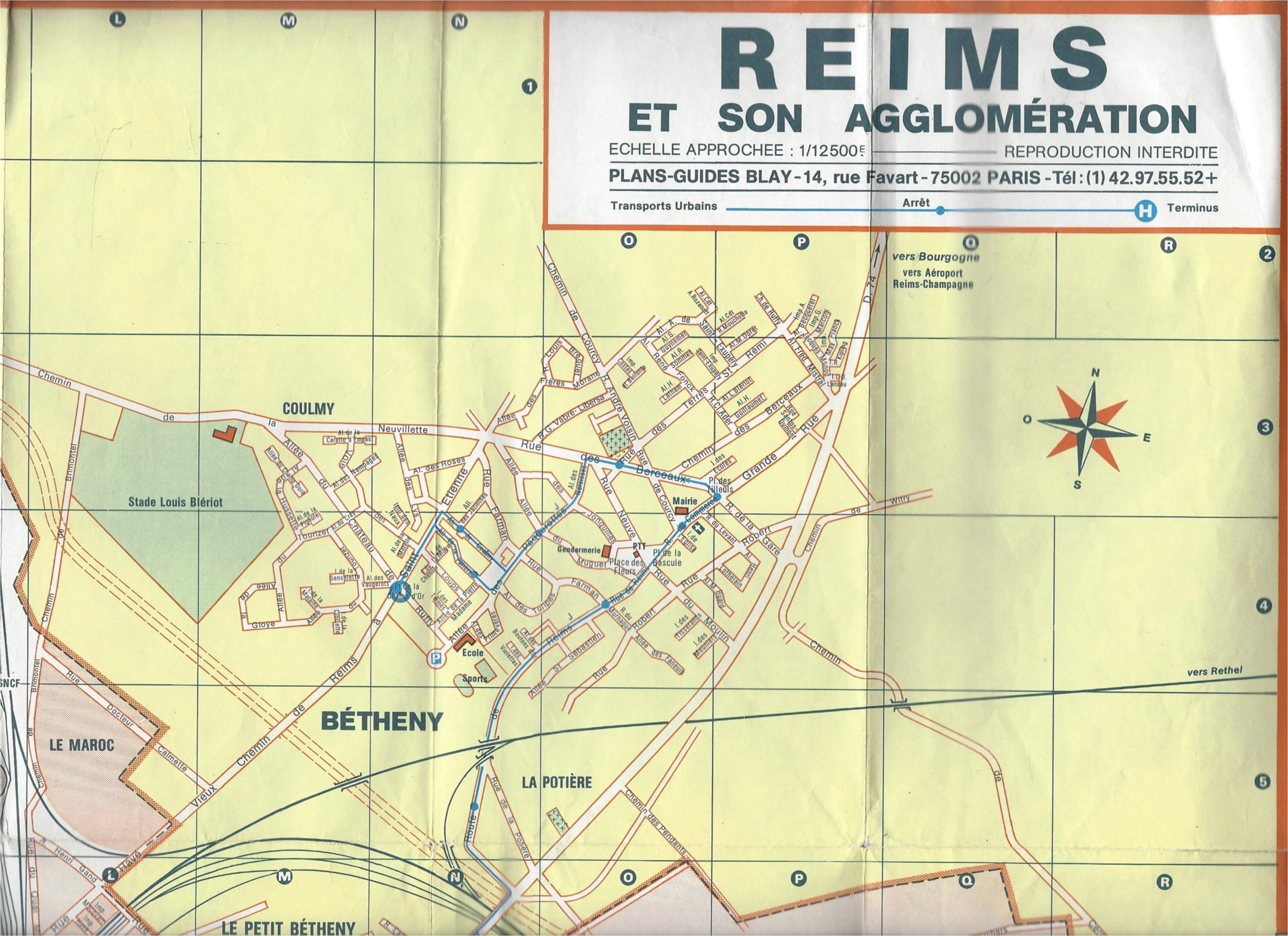 Reims Et Son Agglomeration par Plan Guide Blay: Plan Guide Blay ...