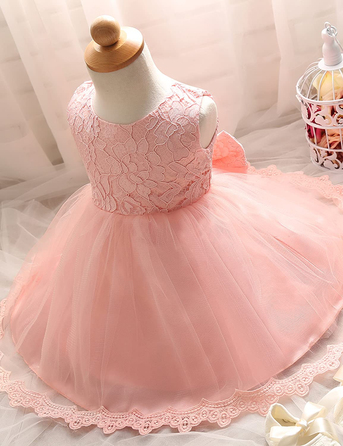 Amazon.com  NNJXD Girls  Tulle Flower Princess Wedding Dress for Toddler  and Baby Girl  Clothing f99973a7e67f