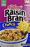 Kellogg's Raisin Bran Crunch Cereal 56.6 Total Ounce Two Bag Value Box