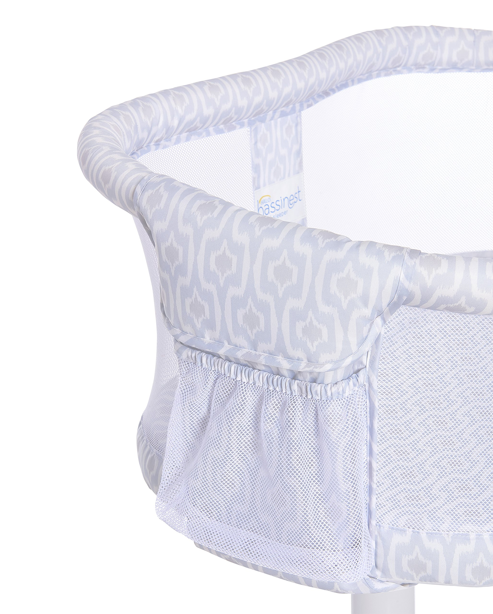 HALO Bassinest Swivel Sleeper Bassinet - Essentia Series, Blue Ikat by Halo (Image #2)