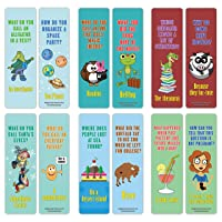 Creanoso English Grammar Puns Bookmarks (60-Pack) – Funny Jokes and Puns Book Page Clippers – Awesome Bookmarks for Linguists, English Teachers, Students, Professionals – Awesome Gift Ideas