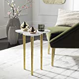 Safavieh Home Aria White and Gold Accent Table