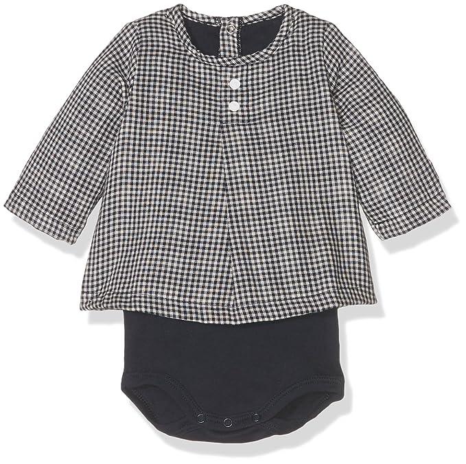 f6f64c0d9945 Amazon.com  Petit Bateau Baby Long Sleeve Check Print Bodysuit Top ...