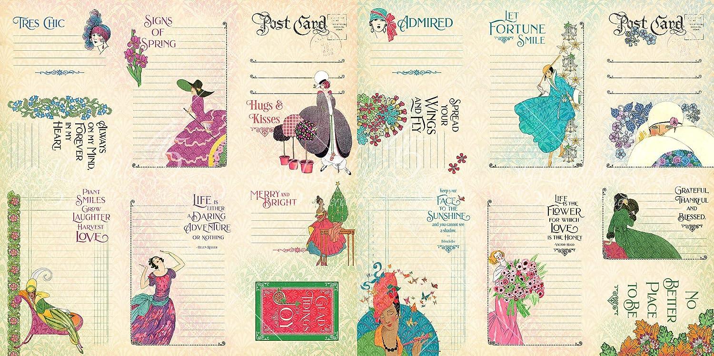 Ephemera /& Envelope Cardstock Die-cuts 8x8 Paper Pad Graphic 45 Fashion Forward