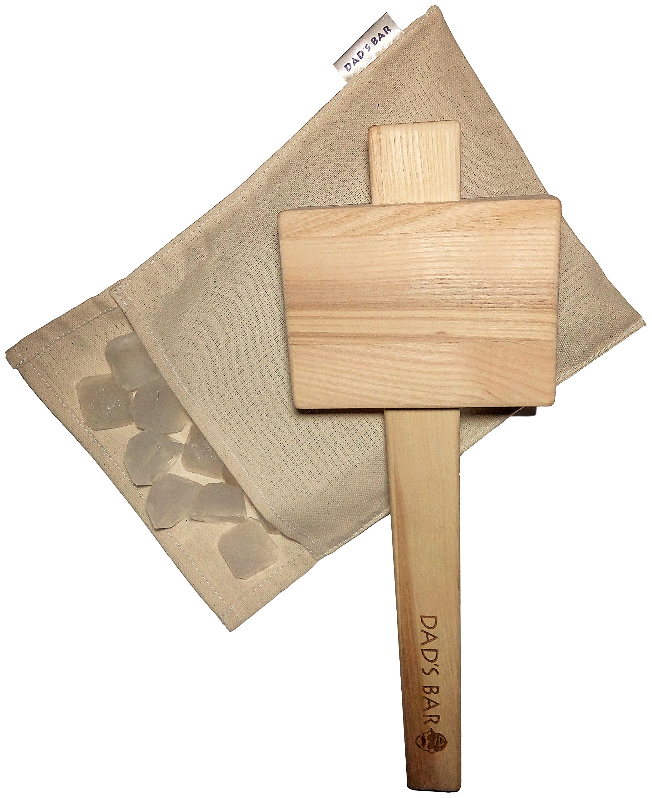 Lewis Ice Bag and Mallet effective and stylish manual Ice Crusher by Dad's Bar Large Mallet 14 Inches by Dad's Bar (Image #1)