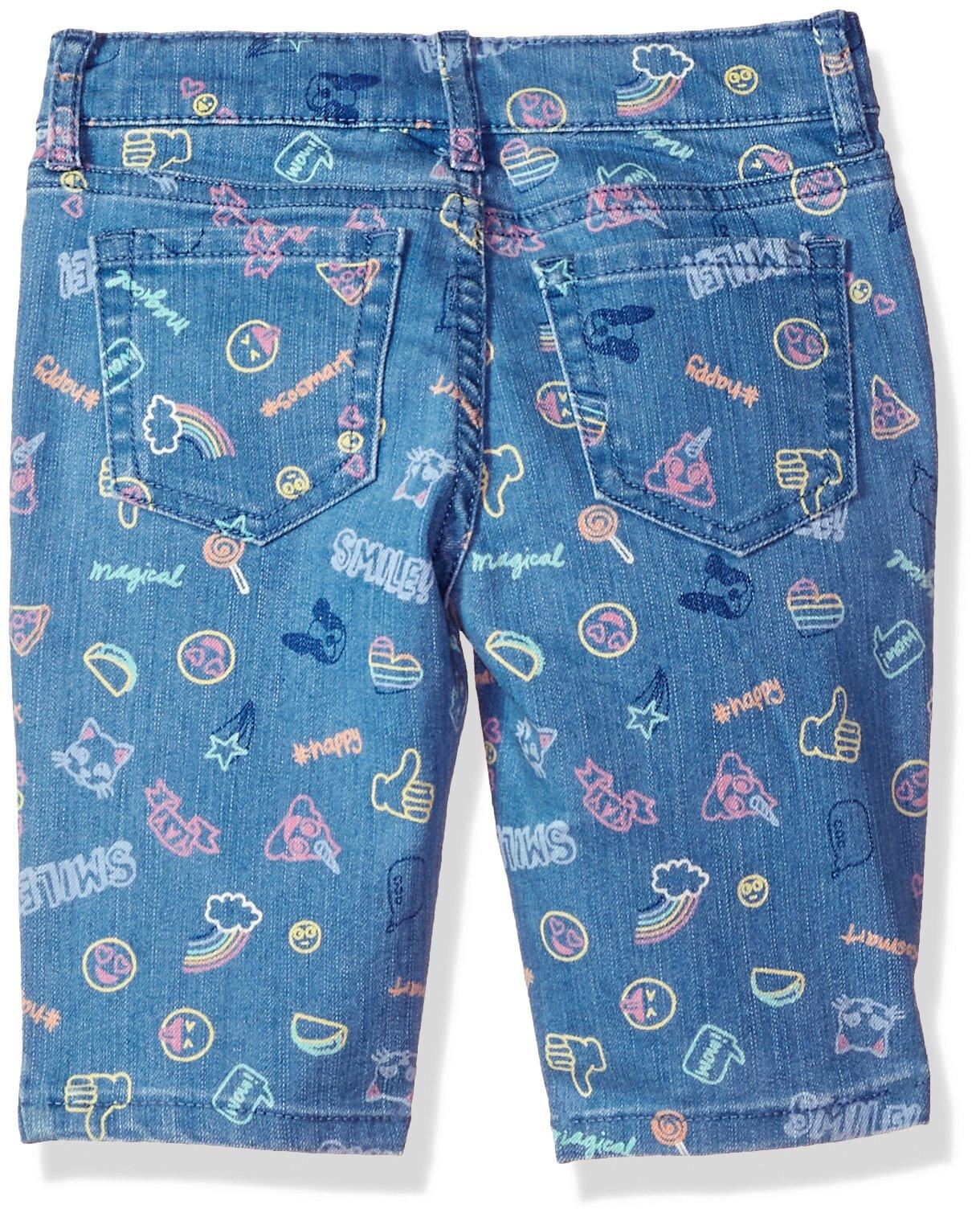 The Children's Place Girls' Big Basic Denim Skimmer Shorts, Lt Med Wash 6596, 8 by The Children's Place (Image #2)