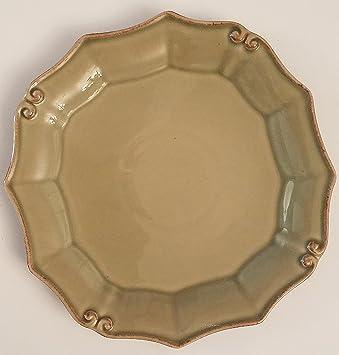 Green Plate - Cara Stone By Carafina Vintage Port Fine Portuguese Stoneware & Amazon.com | Green Plate - Cara Stone By Carafina Vintage Port Fine ...