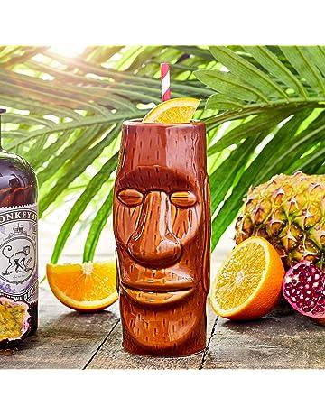 Isla de Pascua Tiki taza 14 oz/415 ml – cerámica hawaiano cóctel taza