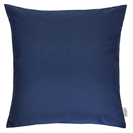 Superb Homey Cozy Outdoor Throw Pillow Cover Classic Solid Navy Blue Large Pillow Cushion Water Uv Fade Stain Resistance For Patio Lawn Couch Sofa Lounge Pabps2019 Chair Design Images Pabps2019Com