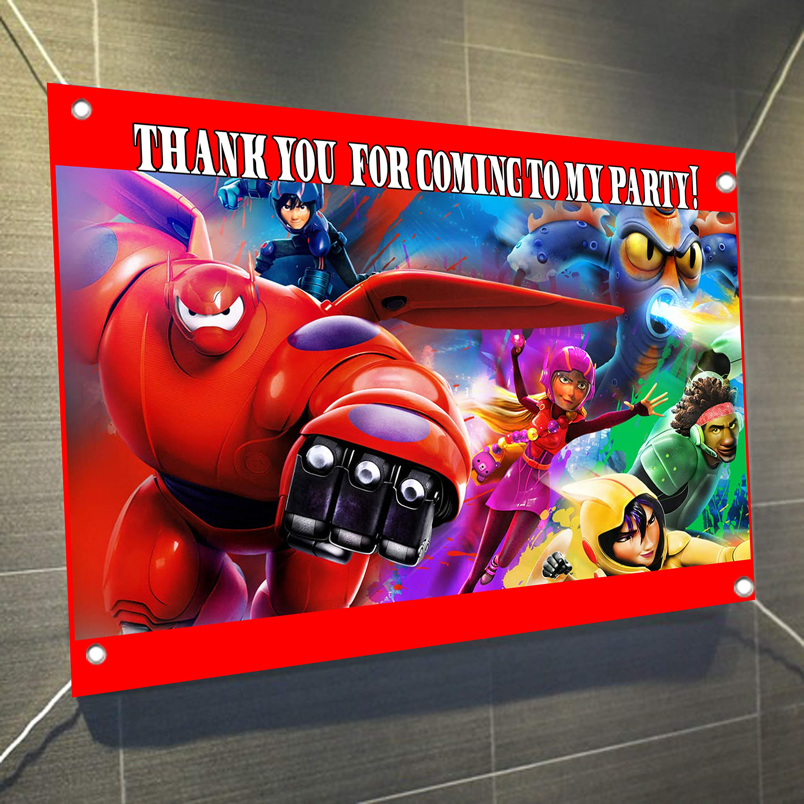 Big Hero 6 Large Vinyl Indoor or Outdoor Banner Sign Poster Backdrop Decoration, Baymax, Waterproof, 30'' x 24'', 2.5' x 2'