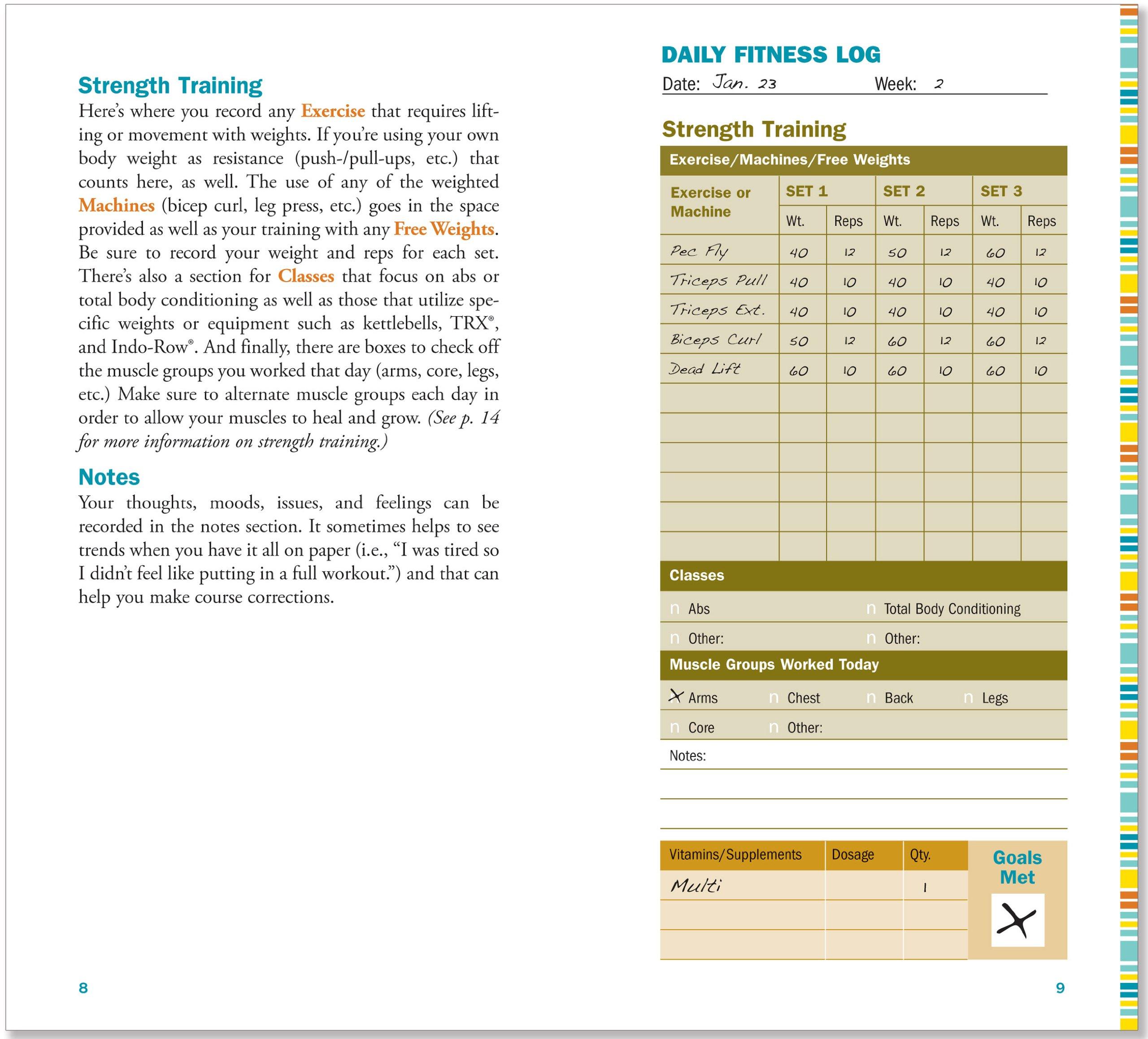 Workout Journal (Diary, Notebook, Fitness): Claudine Gandolfi ...