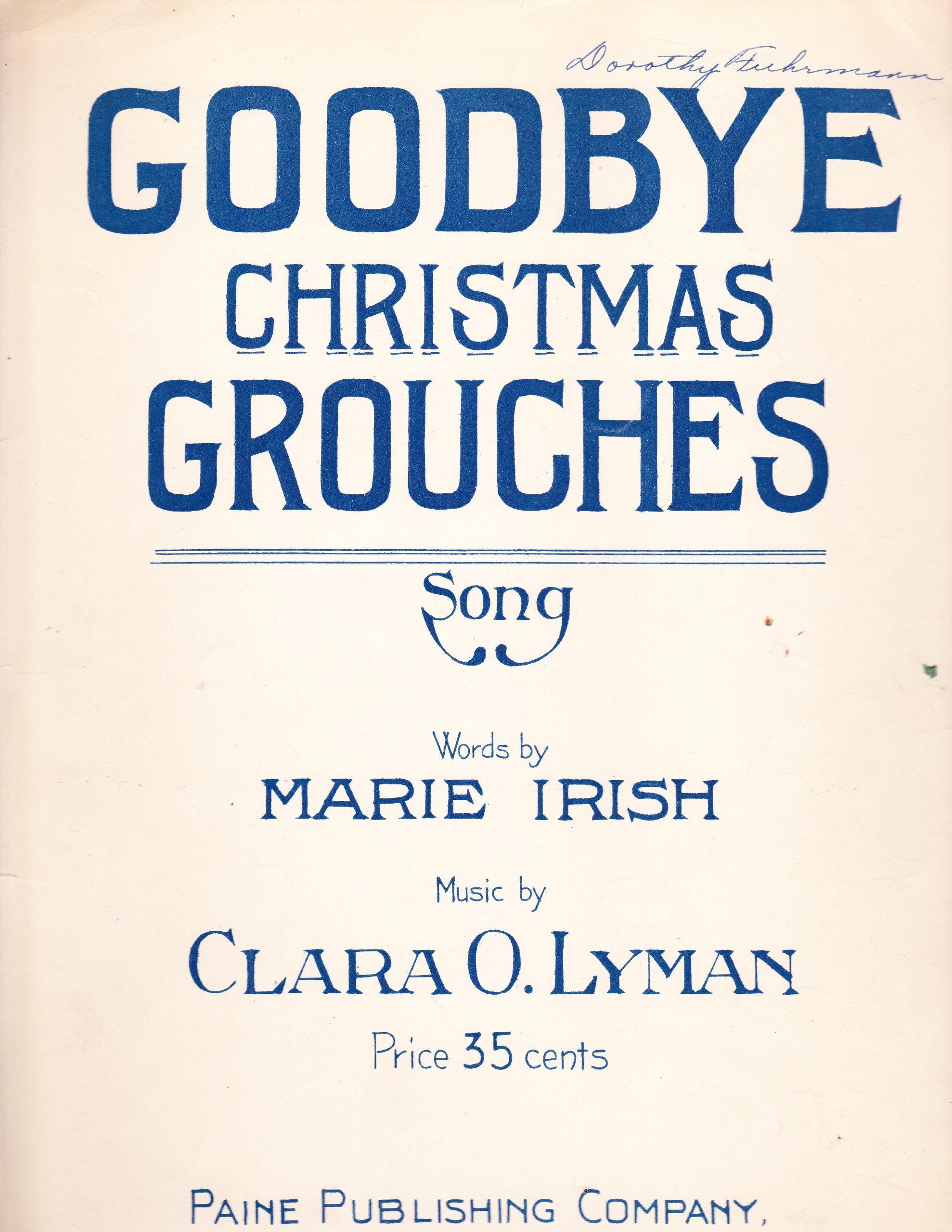 Goodbye Christmas Grouches: Marie Irish, Clara O. Lyman: Amazon.com ...