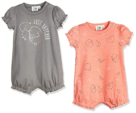 69d91e1802ed Amazon.com  Silly Apples Baby Girls Cotton Blend 2-Pack Short-Sleeve ...