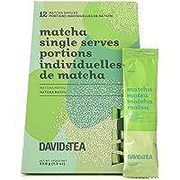 DAVIDsTEA Matcha Matsu Single Serves, Premium Green Tea Powder in 12 Pre-Measured Portions, 33.6 g / 1.2 oz